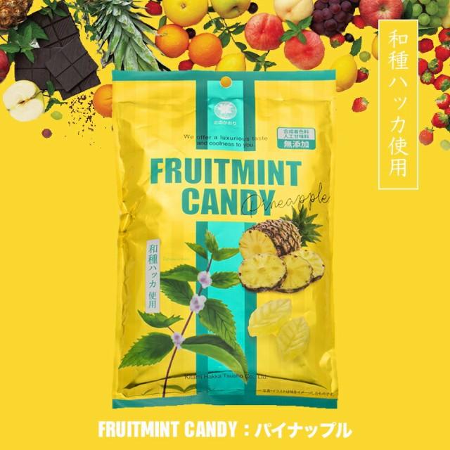 北見ハッカ フルーツミントキャンディ パイナップル ×2個セット メール便 送料無料 北海道 お土産 飴 ハッカ ミント パイン 送料込