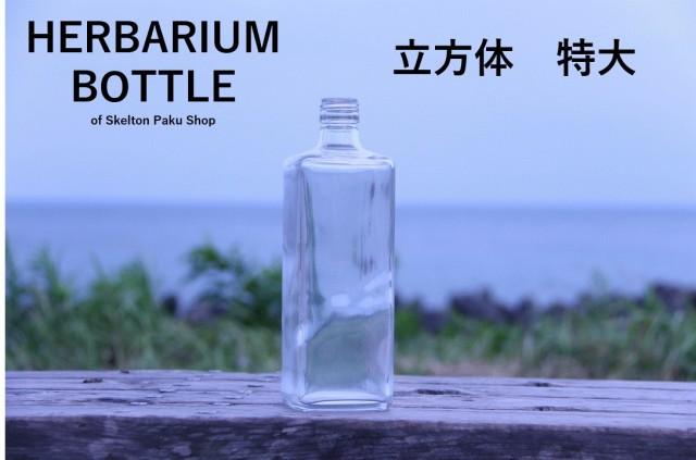 【送料無料】キャップ付き ケース売り 20本入り ガラス 瓶 ボトル 【立方体 特特大】ガラス瓶 容器 保存容器 米櫃 漬物容器
