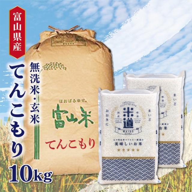 米 10kg 送料無料 10キロ てんこもり 富山県産10キロ お米 令和二年産 玄米 白米 ごはん 慣行栽培米 一等米 単一原料米 分付き米対応可