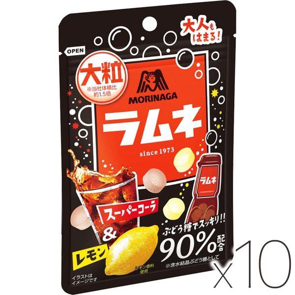 森永製菓 大粒ラムネ <スーパーコーラ&レモン> x10個