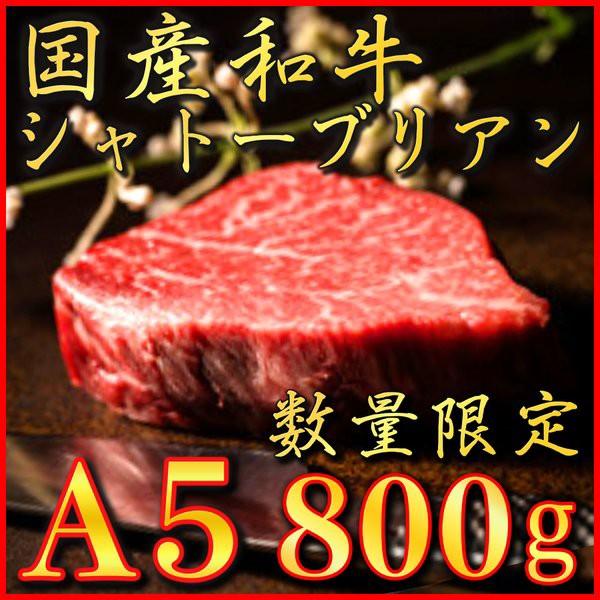 A5 極上 国産和牛 シャトーブリアン 800g 高級 数量限定 国産 牛肉 冷蔵 新鮮 肉 ギフト 赤身 霜降り 特選 厳選 希少部位 焼肉 ステーキ