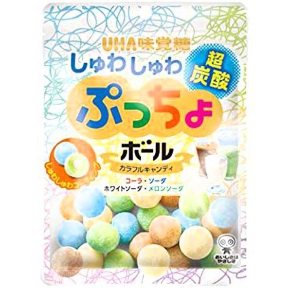 UHA味覚糖 ぷっちょボール しゅわしゅわ炭酸 アソート 50g×6袋