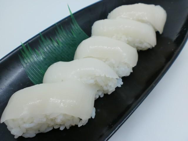 使いやすい10枚規格 寿司ネタ 真イカスライス 7g×10枚 すしねた するめいか スルメイカ のせるだけ 生食用 刺身用 海鮮丼