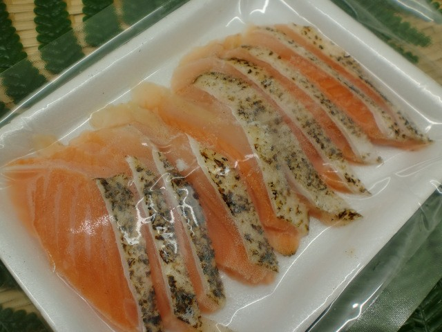 使いやすい10枚 寿司ネタ サーモントラウト焼きハラススライス6g×10枚 すしねた 業務用 生食用 刺身用 海鮮丼