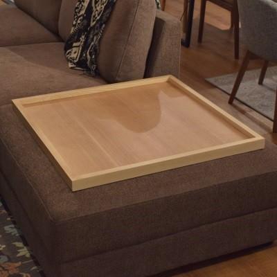 木製トレー 正方形のトレー ウッドトレー お盆 大きいトレー リビングに ソファ上にも置きやすい サイドテーブル代わりに ホームパーティ