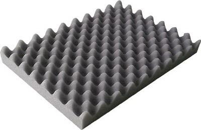 TRUSCO 波状加工ウレタンスポンジシート ソフト 40mm 1mX1m 黒(1枚) TKWS4010BK 7643128