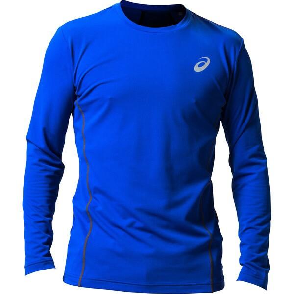 アシックス:ウィンジョブ ロング スリーブシャツ(空調服専用インナー) 400(アシックスブルー×ダークグレー) L 2271A008
