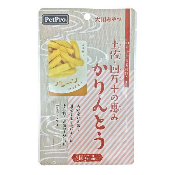 ペットプロジャパン:ペットプロ 土佐四万十の恵み かりんとう プレーン 40g 犬 おやつ 間食 米 小麦 無添加 国産