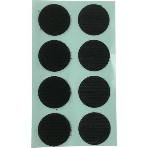 ユタカ マジックテープ ワンタッチ 22φ 8コ入り ブラック G76 8280530