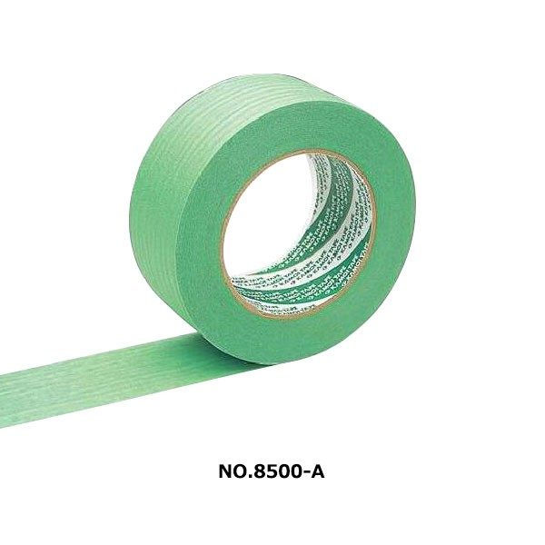 カモ井加工紙:No.8500AL 50mm×25m (30個セット) 床養生テープ マスキング グリーン