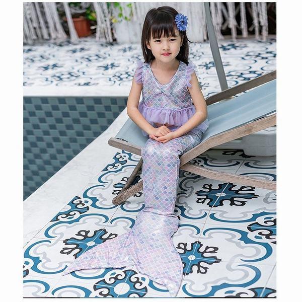 子供 人魚姫 水着 アリエル キッズ プリンセスドレス   3点セット コスチューム 衣装 ドレス コスプレ ワンピース