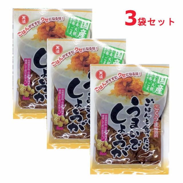 大根と生姜のこくうま醤油漬け ごはんと食ったらうまいでしょうが 漬物 しょうゆ漬け100gx3袋