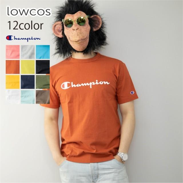 チャンピオン 半袖Tシャツ メンズ ロゴプリント ロゴ刺繍 ワンポイント クルーネック バインダーネック スリム ゆったり Tシャツ クルー