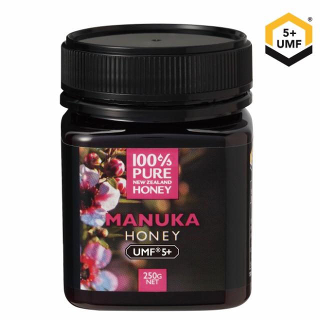 100%PURE NEWZEALAND HONEY MANUKA UMF5+ (MGO83mg/kg)マヌカハニー 250g 1個【ニュージーランド産/直輸入品/高級はちみつ/保存料不使用/
