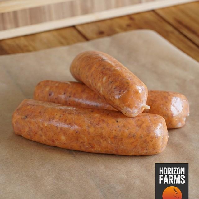 100% 無添加 砂糖不使用 放牧豚の豚肉使用 高品質 ピリ辛 イタリアンスタイル 生ソーセージ 4本