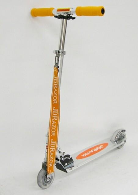 ジェイディージャパン キックスクーター ショルダーベルト付 MS-102-LED-OR 【カラー:オレンジ】 SSL-JDJ