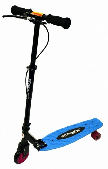 ジェイディージャパン キックスクーター キックボード 後輪2輪  前輪減速ブレーキ付 子供用 大人用 折りたたみ式 MS-600-CRYSTAL