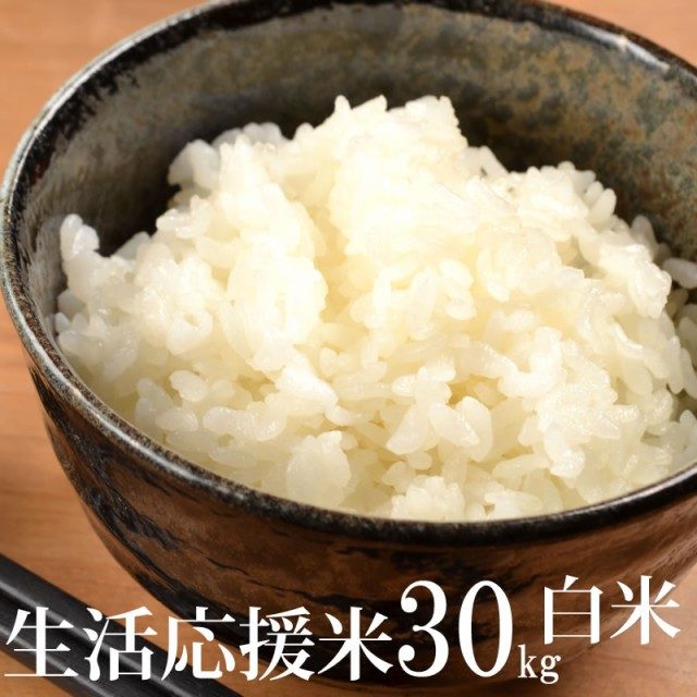 米 お米 見つけてラッキー 送料無料 山形県産生活応援米(当店のブレンド米より下ランク) 白米 30kg×1袋 国産 徳用 令和2年