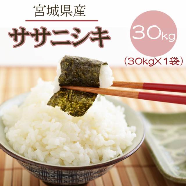 米 お米 ササニシキ 玄米30kg 令和2年産 宮城県産 送料無料 白米・無洗米・分づき
