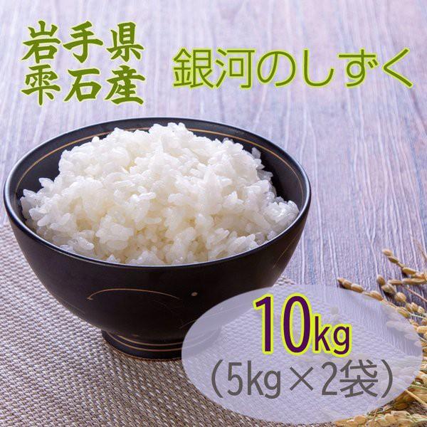 米 お米 5kg×2 銀河のしずく 玄米10kg 令和2年産 岩手県 雫石産 白米・無洗米・分づきにお好み精米 送料無料 当日精米