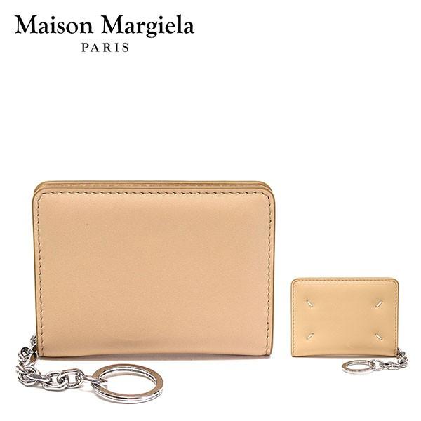 メゾン マルジェラ Maison Margiela キーリング付 レザー カードケース【ベージュ】 S56UI0128 P4303 T2057/【2021-22AW】goods