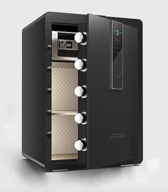 金庫 家庭用 業務用 a4対応 100L 緊急キー付 防犯 盗難防止 アラーム付 専用鍵2本 1年保証