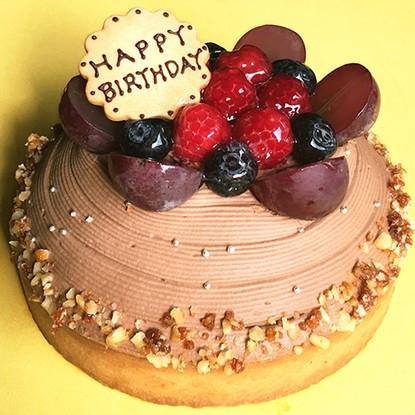 木苺のチョコレートバースデーケーキ14cm バースデーケーキ 誕生日ケーキ チョコレートケーキ スイーツ ケーキ ギフト プレゼント 御祝い