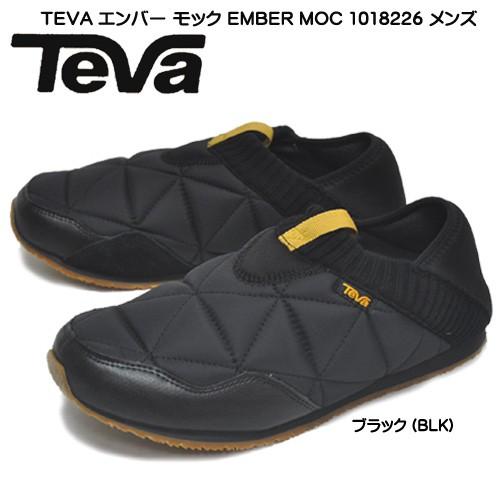 TEVA テバ エンバー モック EMBER MOC 1018226-0502 メンズ 折りたたみヒール スリッポン キルト スニーカー 撥水 ブラック
