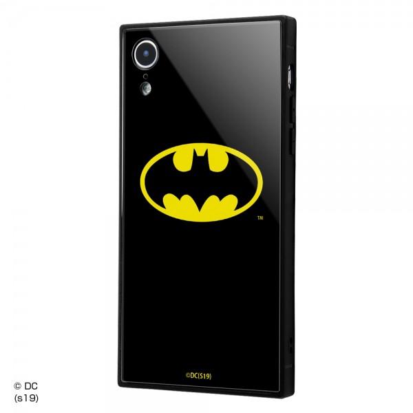 イングレム iPhone XR 耐衝撃ガラスケース KAKU バットマンロゴ 母の日