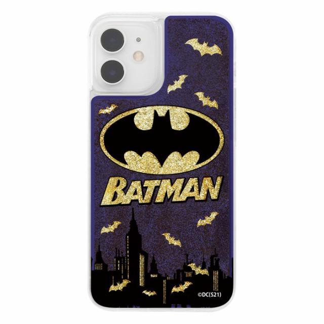 iPhone 12 mini ケース バットマン ラメ グリッターケース / バットマンロゴ キャラクター グッズ iphone12mini アイフォン12ミニ 【ij】