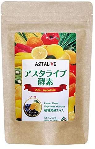 おいしいっ スムージー ASTALIVE (アスタライブ) 酵素 スムージー チアシード 乳酸菌 穀物麹 入り レモン味 200g