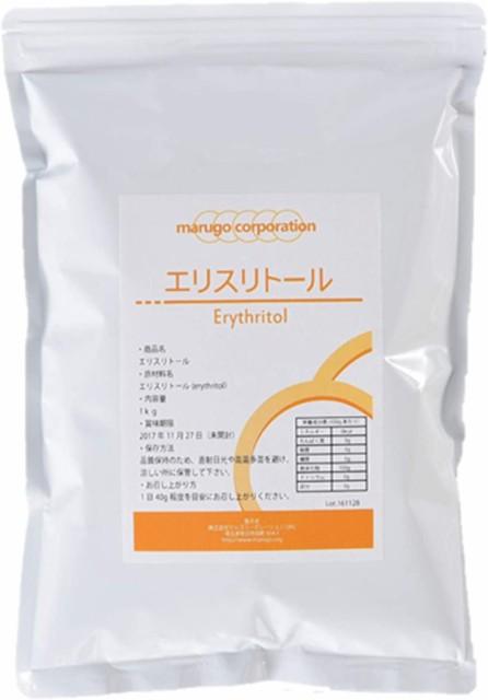 marugo(マルゴ) エリスリトール (erythritol) 粉末 1kg 計量スプーン付き