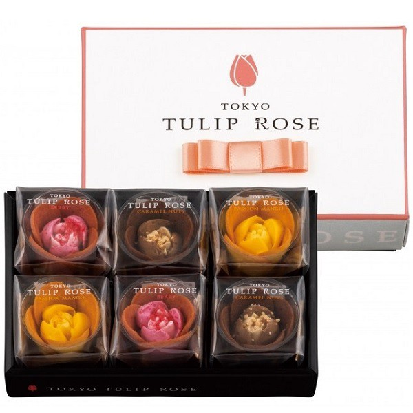 東京チューリップローズ 6個入り TOKYOチューリップローズ 3種類セット ベリー パッションマンゴー キャラメルナッツ TOKYO TULIP ROSE