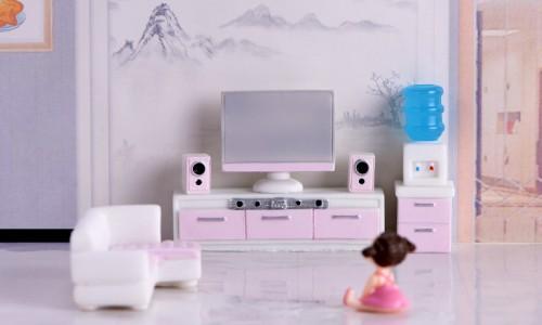 テラリウムフィギュア ピンク家具 ドールハウス ミニフィギュア コケリウム スノードーム イベント