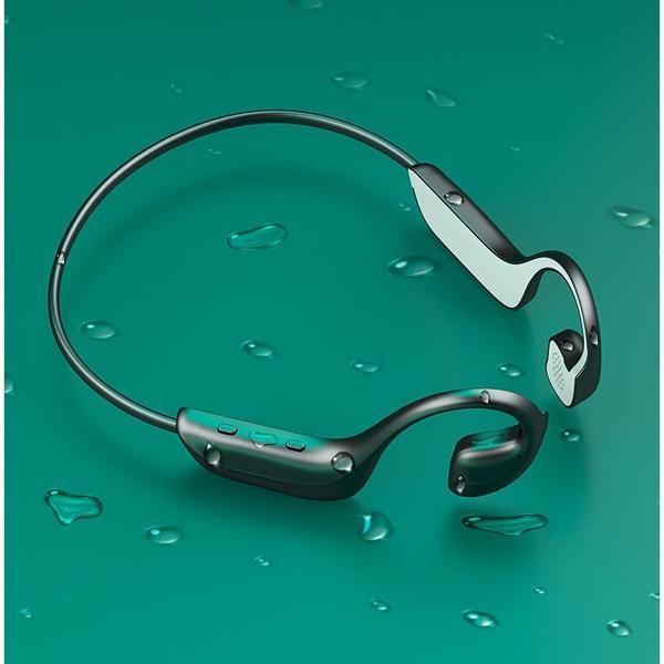 ワイヤレスヘッドセット 骨伝導ヘッドホン Bluetooth 5.0 ブルートゥースイヤホン スポーツ用 IPX5防水防滴 外音取込み 大容量電池