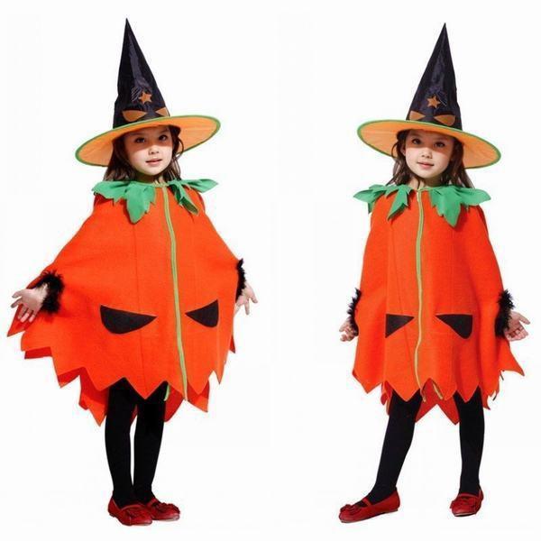 パンプキン コスプレ衣装 子供 | 衣装 コスプレ ハロウィン 魔女 仮装 マント 女の子 かぼちゃ コスチューム ハロウイン ハロウィーン ハ