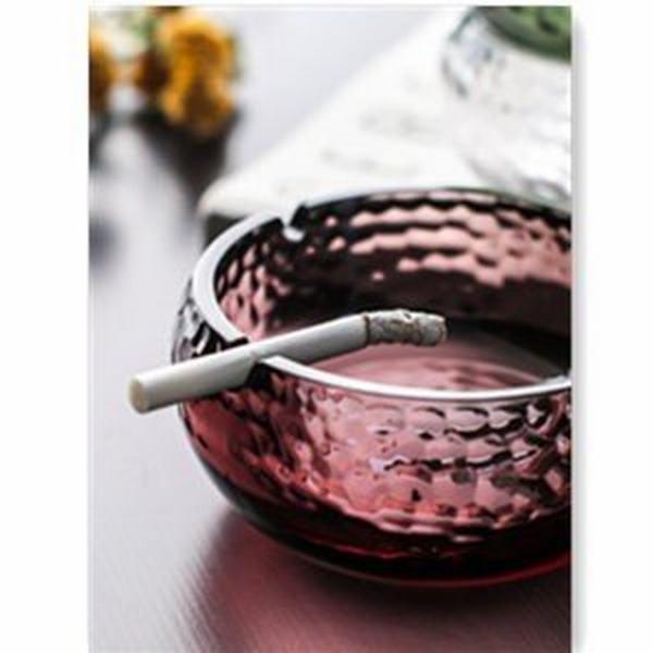 グラス ガラス リリーフ灰皿 灰皿 卓上灰皿 おしゃれ 可愛い 卓上 インテリア 客室グッズ オフィス 吸煙灰皿 タバコ備品