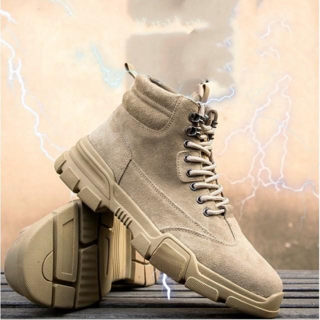 安全靴 スニーカー メンズ 防滑 スエード調 鋼先芯 つま先保護 絶縁 防刺 耐磨耗 衝撃吸収 作業 通勤 アウトドア 作業靴 2タイプ ハイカ