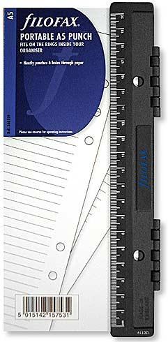【送料無料】携帯用 6穴パンチ A5 ファイロファックス filofax システム手帳用
