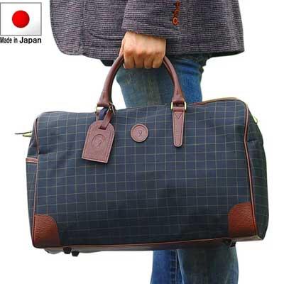ノベルティプレゼント ボストンバック 軽量 2泊 旅行カバン トラベルバッグ 旅行かばん 日本製 チェック柄 男女兼用 豊岡製 1泊 おしゃれ
