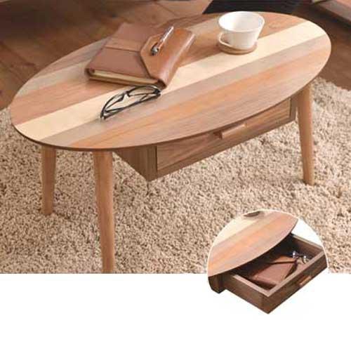 B.Bハウス YOGEAR 引き出し付きセンターテーブル テーブル 天然木 ウレタン 机 バーチ 椅子 ウォールナット アンティーク ベンチシート