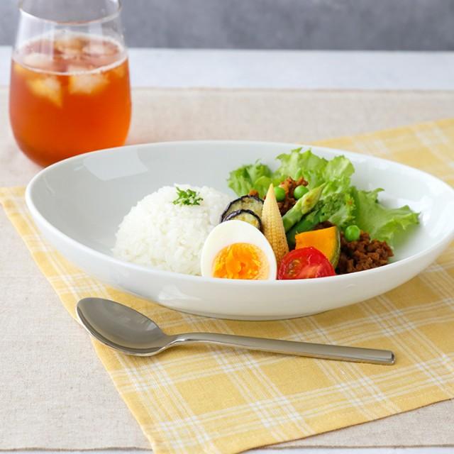 オーバルボウル 26cm ホワイト (アウトレット) 食器 おしゃれ 洋食器 深皿 ボウル カレーボウル パスタボウル カレー皿 パスタ皿 盛り