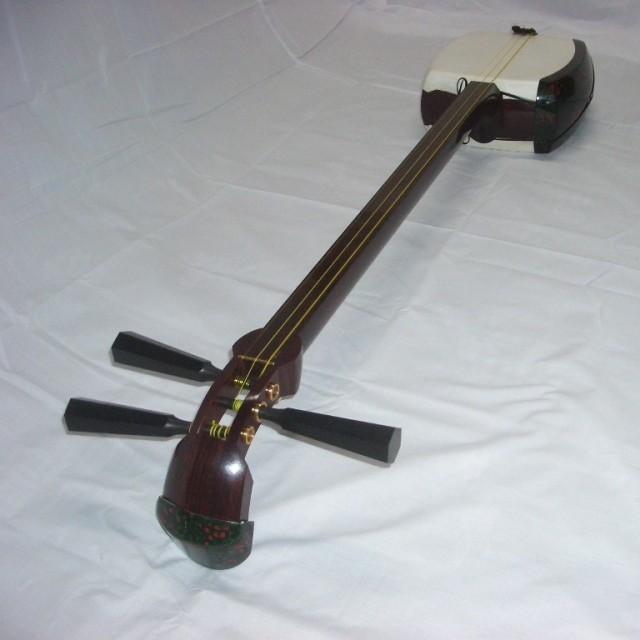 津軽 三味線 紅木 金細 和楽器 邦楽器 演奏会用 高級 フル装備 上級 中級