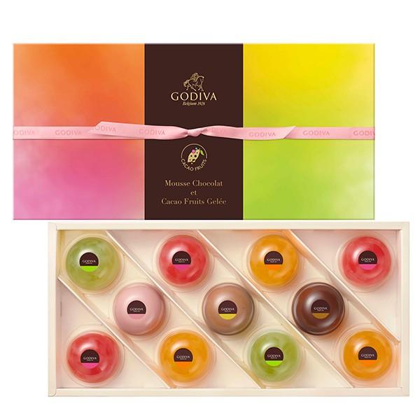 お中元 ギフト お返し チョコレート スイーツ ゴディバ(GODIVA)ムースショコラ エ カカオフルーツジュレ (11個入)