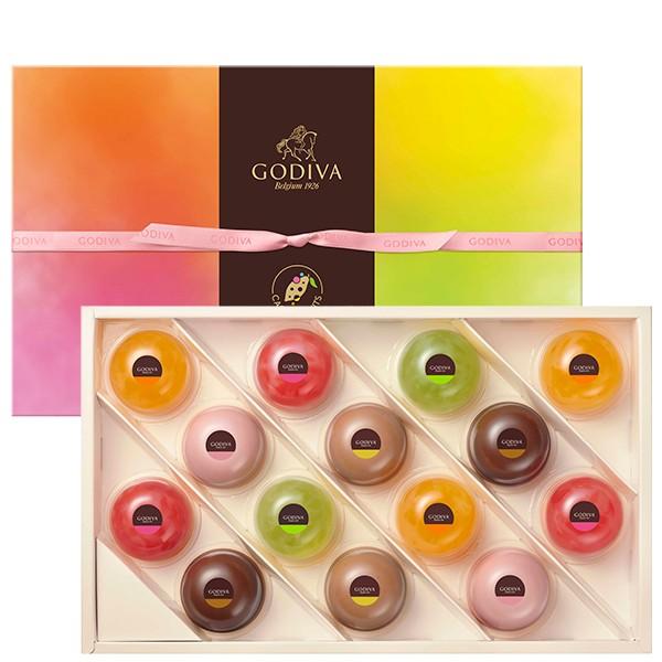 お中元 ギフト お返し チョコレート スイーツ ゴディバ(GODIVA)ムースショコラ エ カカオフルーツジュレ (14個入)