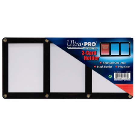 ウルトラプロ (Ultra Pro) 3カード用 黒枠フレーム スクリューダウン #81201 | 3-Card Black Frame Screwdown Holder)