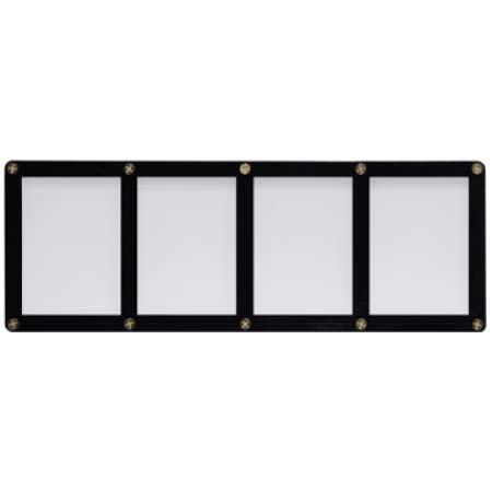 ウルトラプロ(Ultra Pro) 4カード用 黒枠フレーム スクリューダウン #81202 | 4-Card Black Frame Screwdown Holder