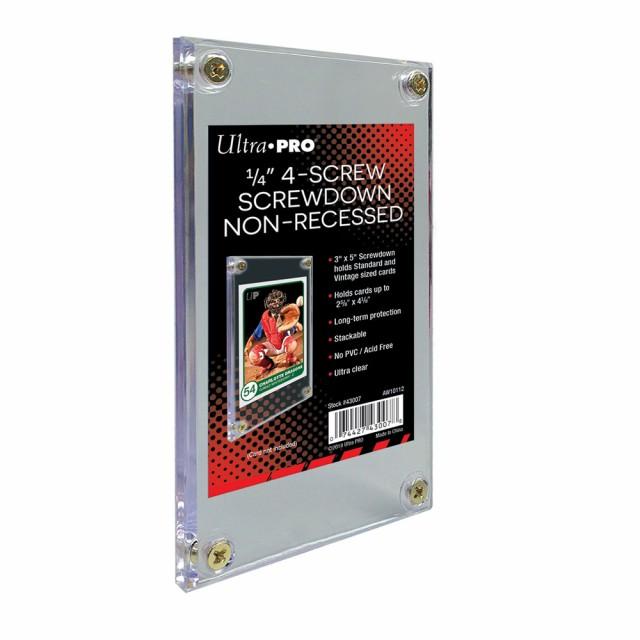 Ultra Pro (ウルトラプロ) 1/4インチ スクリューダウン 溝なしタイプ #43007 | 1/4 Screwdown Non-Recessed Holder