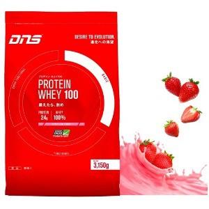 DNS プロテインホエイ100 いちごミルク風味 3 150g
