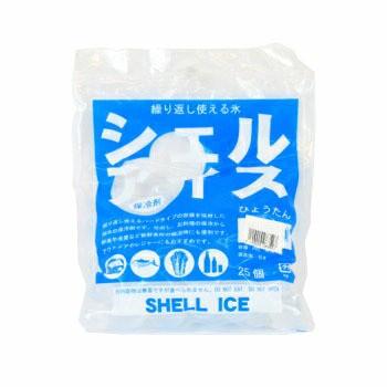 シェルアイス ひょうたん小25個入 保冷バッグ 保冷剤 食品消耗資材 保冷パック 保存 弁当